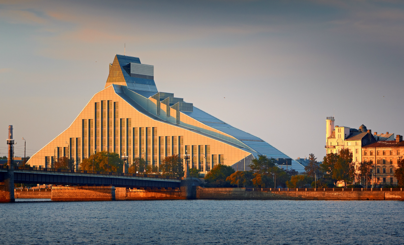 latvian national library architecture valts kleins