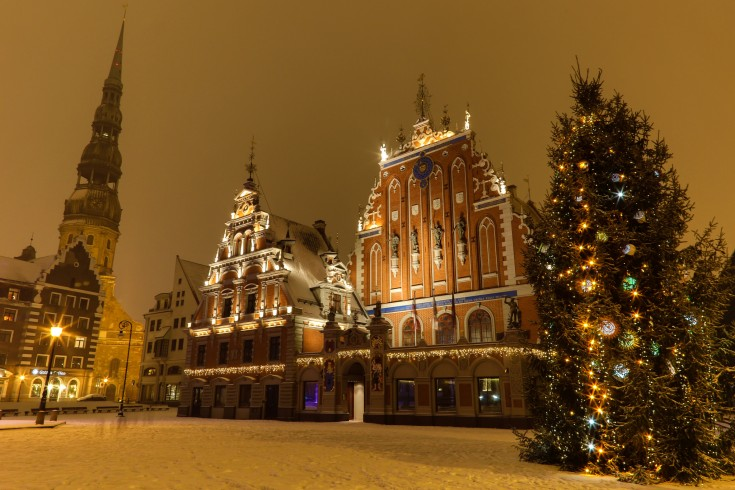 old riga in christmas time